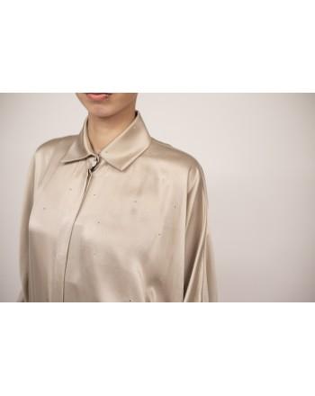 MAX MARA - PORFIDO silk shirt - Light brown