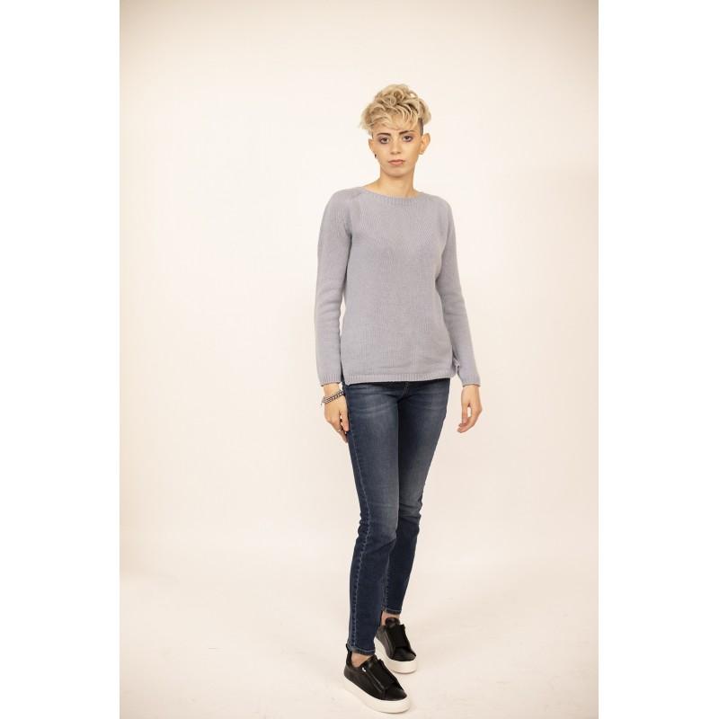 WEEKEND MAX MARA - 5 Pockets Cotton and Elastam Jeans - Dark Blue