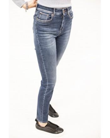 WEEKEND MAX MARA - Jeans 5 Tasche in Cotone con Elastam - Blu Scuro