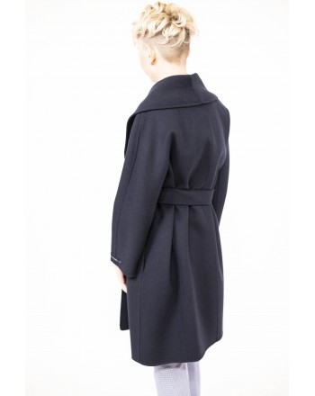 'S MAX MARA - Cappotto in Lana con Cintura in vita MESSI - Dark Blue