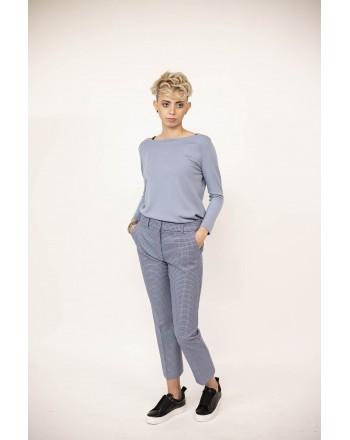 MAX MARA WEEK END - Pantalone SABATO in cotone - Bianco/Bluette