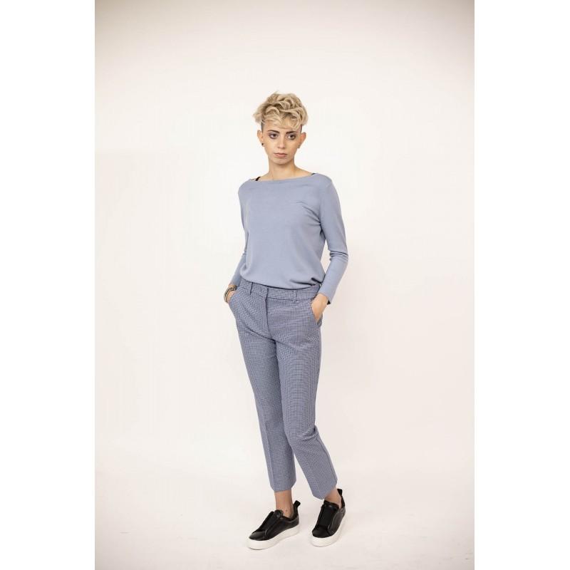 MAX MARA WEEK END -  SABATO Cotton Trousers - White/Blue