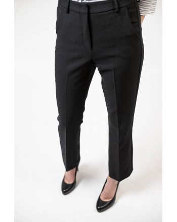 MAX MARA WEEKEND - Pantalone AMATI in viscosa - NERO