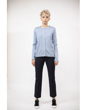 WEEK END MAX MARA - Cardigan in cotone - Azzurro