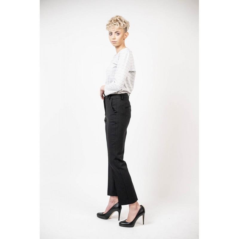 SMAX MARA  - Pantalone in cotone elasticizzato - Nero