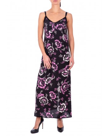 MCQ BY ALEXANDER MCQUEEN - Long Cotton Flower printed Dress - Black