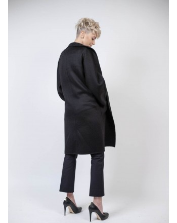 MAX MARA - LILIA Cashmere Coat - Black