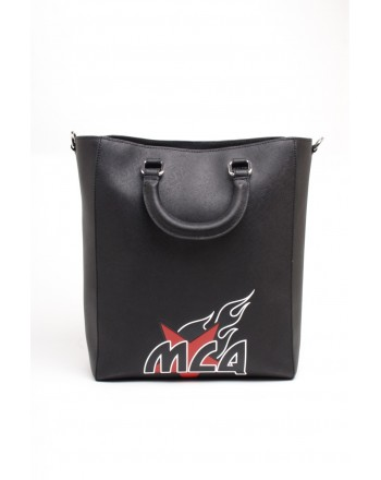MCQ BY ALEXANDER MCQUEEN -  Leather Bag MAGAZINE TOTE  - Nero