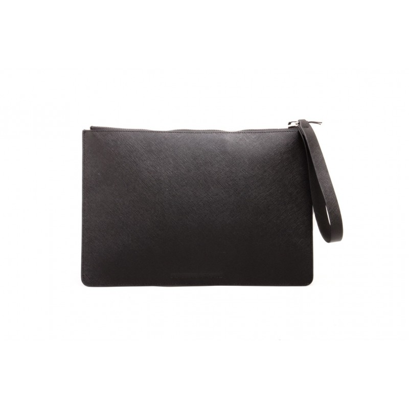 MCQ BY ALEXANDER MCQUEEN - Leather TABLET POUCH  - Black