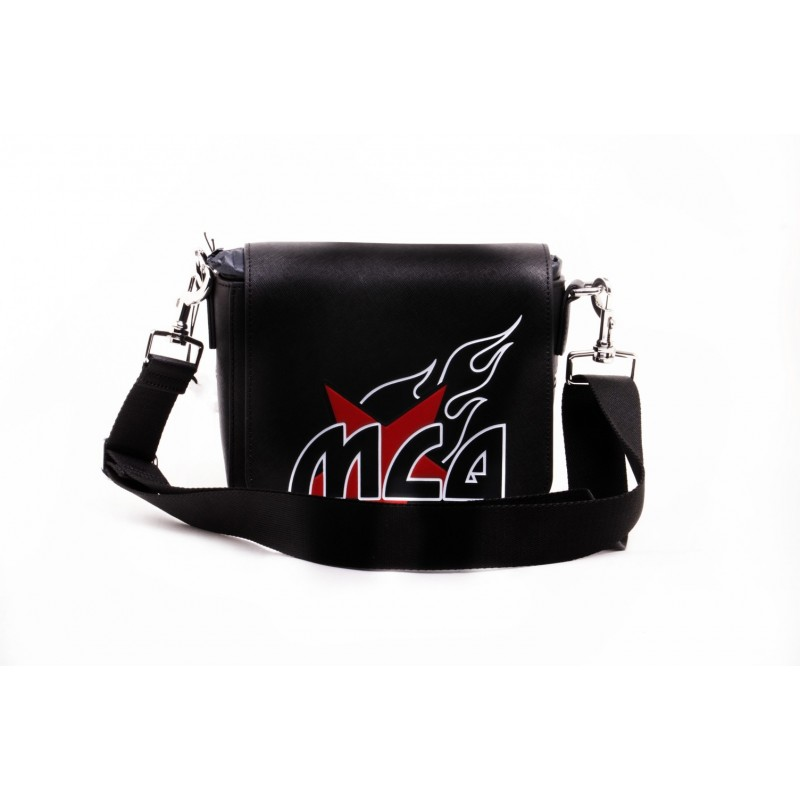 MCQ BY ALEXANDER MCQUEEN -  Crossbody Leather Bag  MOTEL - Black