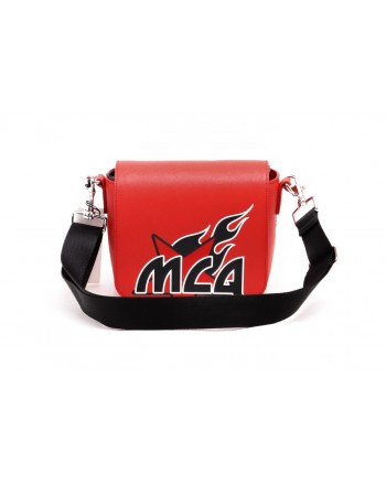 MCQ BY ALEXANDER MCQUEEN -  Crossbody Leather Bag  MOTEL - Riot Red