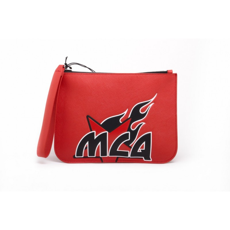 MCQ BY ALEXANDER MCQUEEN -  Portatutto MEDIUM POUCH - Riot Red