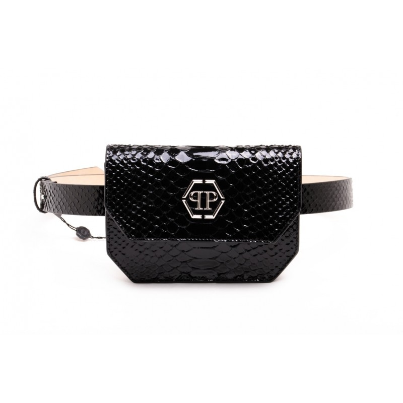 PHILPP PLEIN - Pouch in pelle - Nero