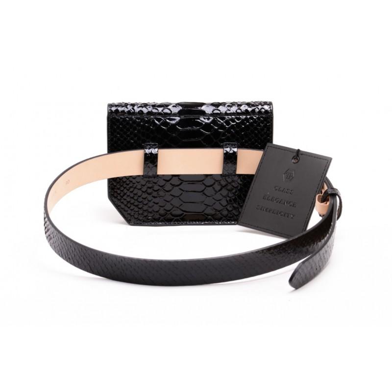 PHILPP PLEIN - Leather Pouch  - Black