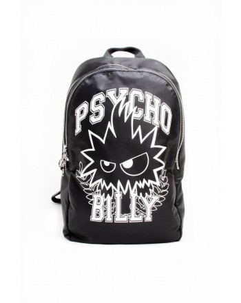 MCQ BY ALEXANDER MCQUEEN -  PSYCHO backpack in leather - Black