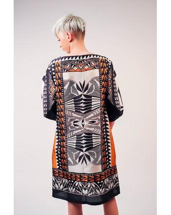 ALBERTA FERRETTI - Silk Tribal patterned Dress - Multicolour