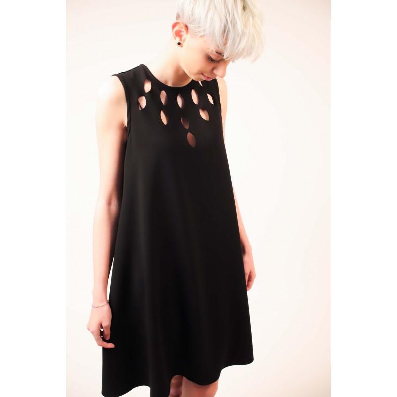 PINKO - Sleeveless PONDERATO Dress - Black