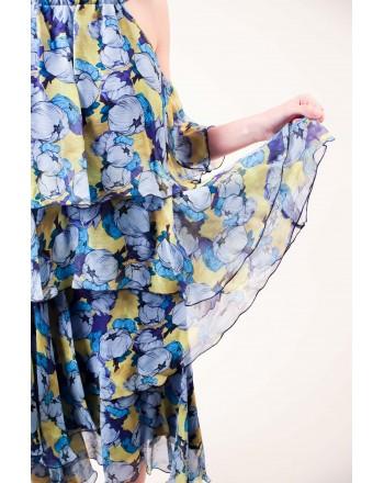PINKO -  ESUBERANTE Twilight Dress in Viscose - Blue