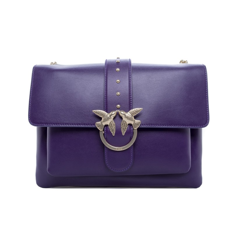 PINKO - Borsa BIG LOVE SIMPLY - Dark Purple