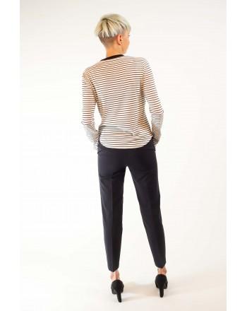 PHILOSOPHY di LORENZO SERAFINI - Cotton Stripes T-Shirt - White/Blue