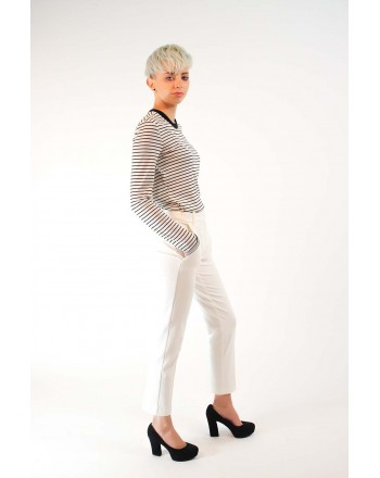 PINKO -   BELLO66 Trousers in Punto Milano - White