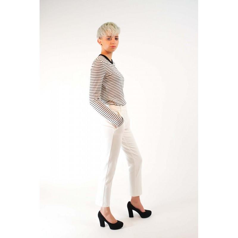PINKO -   BELLO66 Trousers in Punto Milano - White