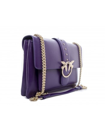 PINKO -  BIG LOVE SIMPLY Bag - Dark Purple