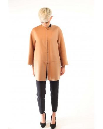 MAX MARA STUDIO - NANNI coat in silk and cashmere - Camel/light blue