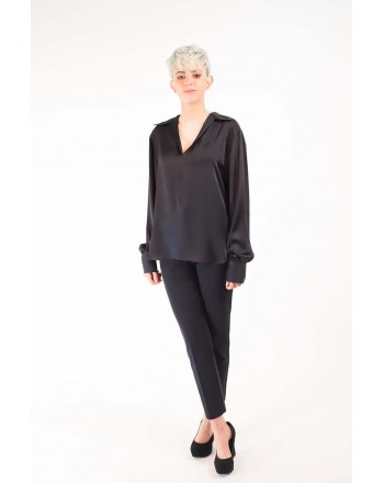 PHILOSOPHY di LORENZO SERAFINI - Two Lenghts Blouse - Black
