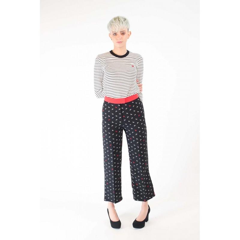 PINKO -  MORBIDO Trousers Elasticized - Black/White/Red
