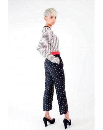 PINKO - Pantalone MORBIDO elasticizzati - Nero/Bianco/Rosso