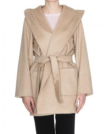 MAX MARA STUDIO - Cashmere and Camel Coat COROLLA - Camel