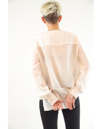 PINKO - COLTO in silk crepe de Chine blouse - White