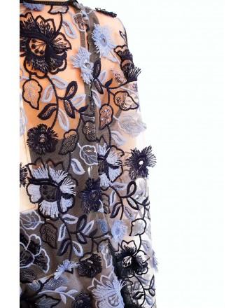 ANTONIO MARRAS - Dress with Frills MIYAZAKY - Blue/Light Blue