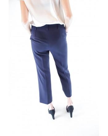 MAX MARA STUDIO - SALATO trousers in cotton cady - Blue