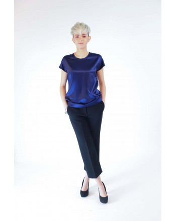 PINKO - Blusa in Seta Stretch FARISA - Blu
