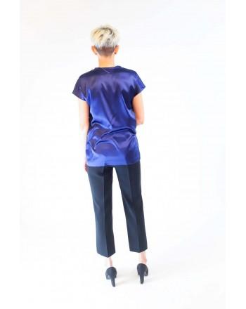 PINKO - Stretch Silk Blouse  FARISA - Blue