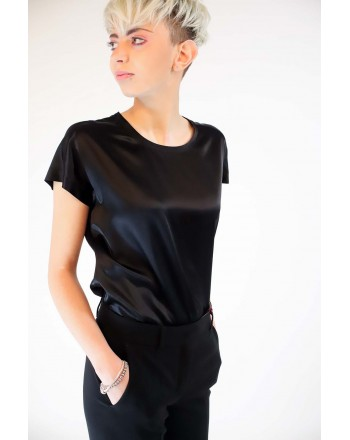 PINKO - Blusa in Seta Stretch FARISA - Nero