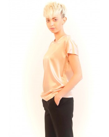 PINKO - Stretch Silk Blouse FARISA -Pink