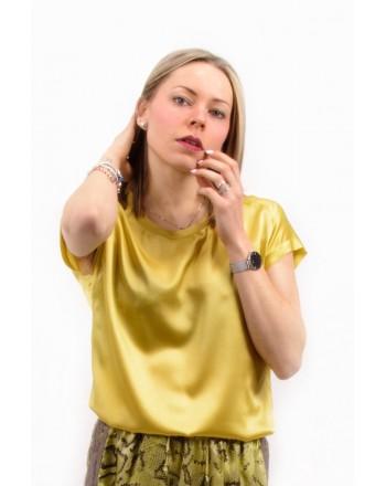 PINKO - Stretch Silk Blouse FARISA - Green