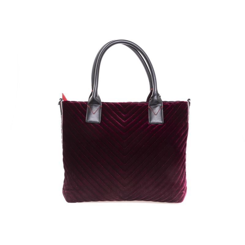 e6d86cbfc18120 PINKO Shopping bag ADAMS Velvet Bordeaux [Woman] Elsa Boutique