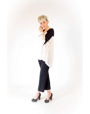 PINKO - ABBONATO Crepe de Chine Blouse - White/Black