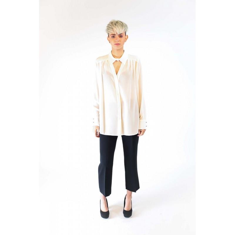 PINKO - GENEROSO silk shirt  - White