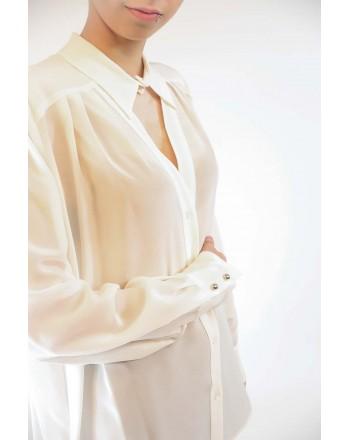 PINKO - Camicia GENEROSO in seta - Bianco