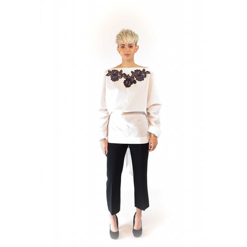 ANTONIO MARRAS - Cotton shirt with Lace - White