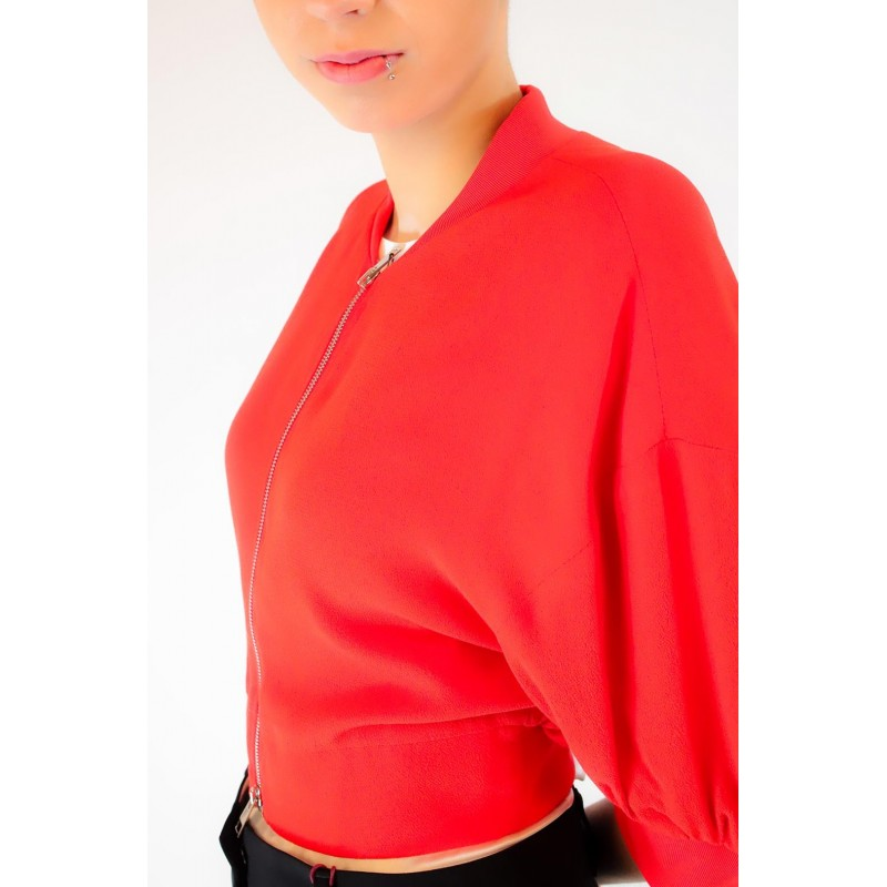 PINKO -  BOMBER MAROCAINE PICCANTE jacket - Red
