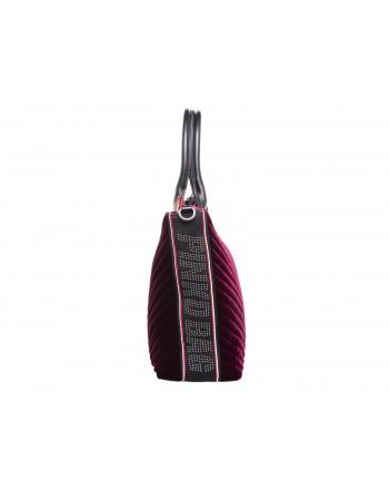 PINKO - Shopping bag ADAMS in Velvet - Bordeaux