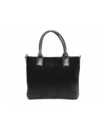 PINKO - Borsa Shopping ADAMS in velluto - Nero