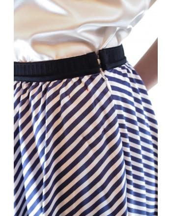 ANTONIO MARRAS - Wide cotton skirt - White/Blue