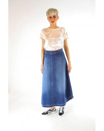 PHILOSOPHY di LORENZO SERAFINI - Skirt in long denim jeans - Denim